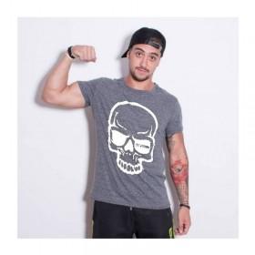T-shirt KVRA Full Skull gris