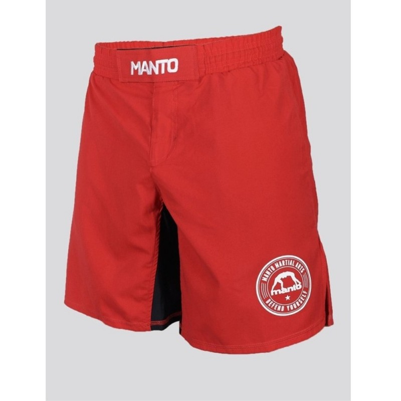 FIGHTSHORT MANTO BASICO ROUGE