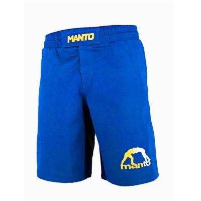 Shorts BJJ MANTO RIPSTOP LOGO 4.0 Blau