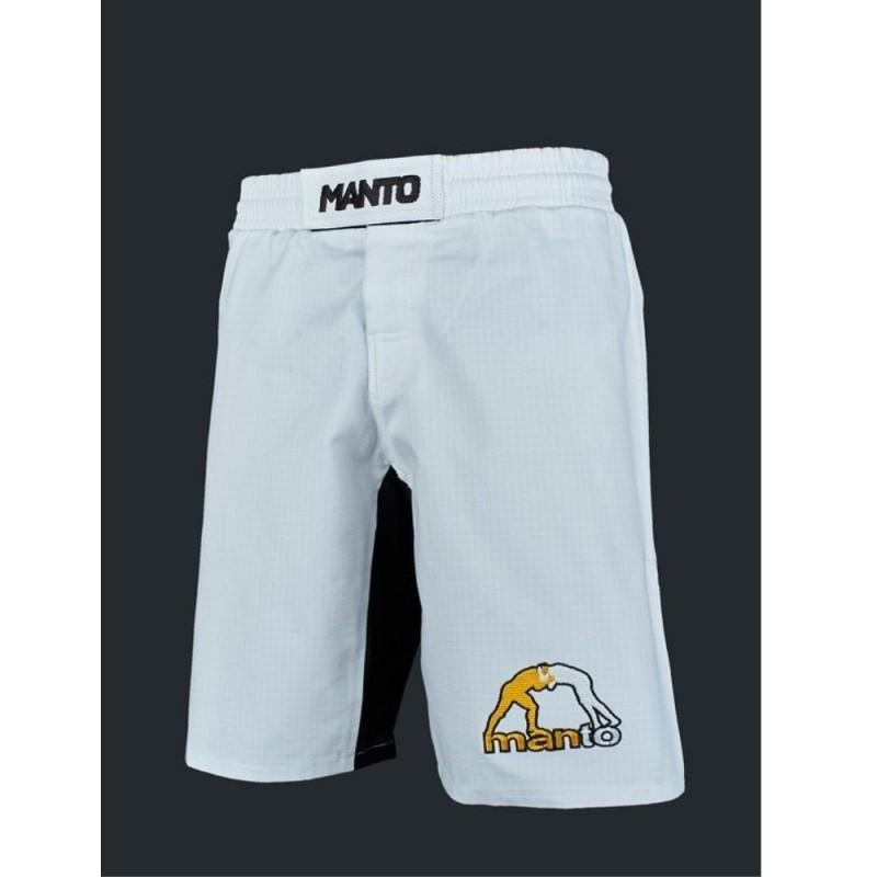 Shorts BJJ MANTO RIPSTOP LOGO 3.0 Weiß