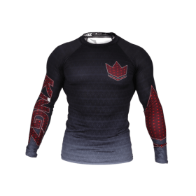 Rashguard Herren KINGZ CROWN IBJJF RANK 3.0 Schwarz
