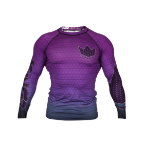 Rashguard Herren BJJ KINGZ CROWN IBJJF RANK 3.0 Lila