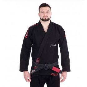 BJJ GI TATAMI FIGHTWEAR RED BAR schwarz