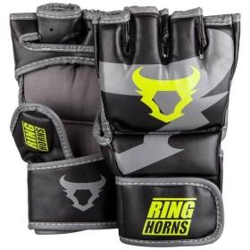 Gants de MMA Ringhorns Charger Noir/Jaune Fluo